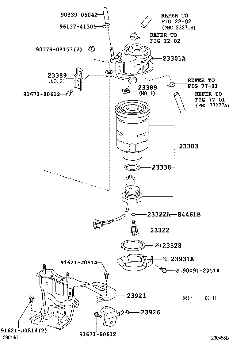 toyota corolla fuel filter location