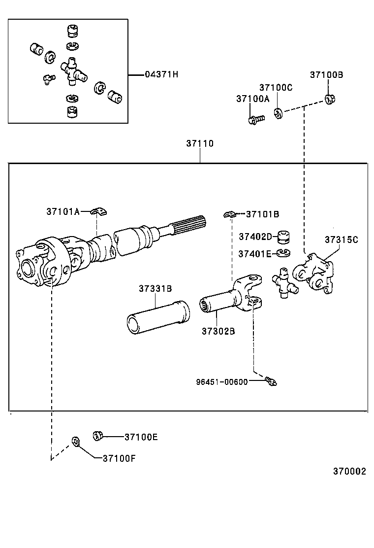 Toyota 90937-01502 Propeller Shaft Balance