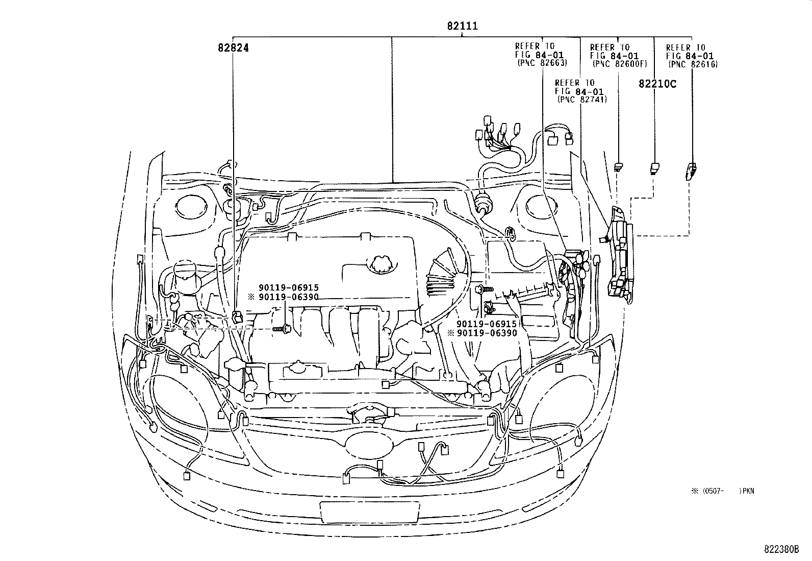 Part code, Title, information, i. 82824, CONNECTOR, WIRING HARNESS