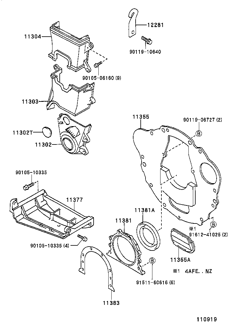 Toyota 11303-15040 Engine Timing Cover