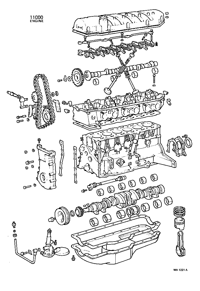 Partial Engine Assembly[ (7410 7604)4m ] Toyota Crown [rs80,ms8 ,95 Toyota  3VZE Engine Diagram Toyota 4m Engine Diagram. Source. toyota service manual  ...