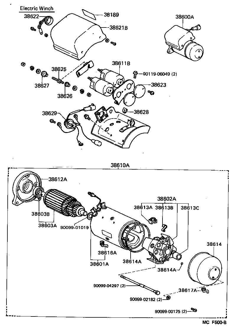 Winch Illust No 4 Of 48708 Toyota Land Cruiser Bj60hj6 Fj60 Starter Wiring Diagram Part Code Title Information I