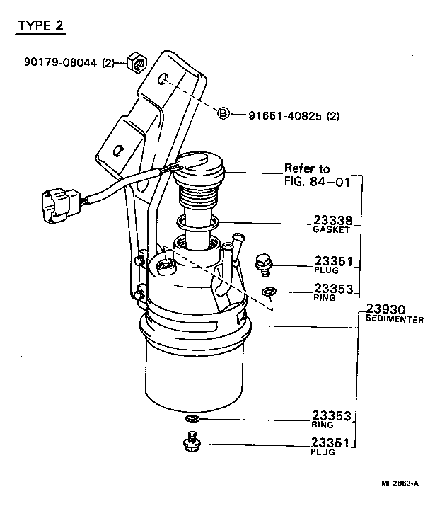 84 Toyota Fuel Filter Location