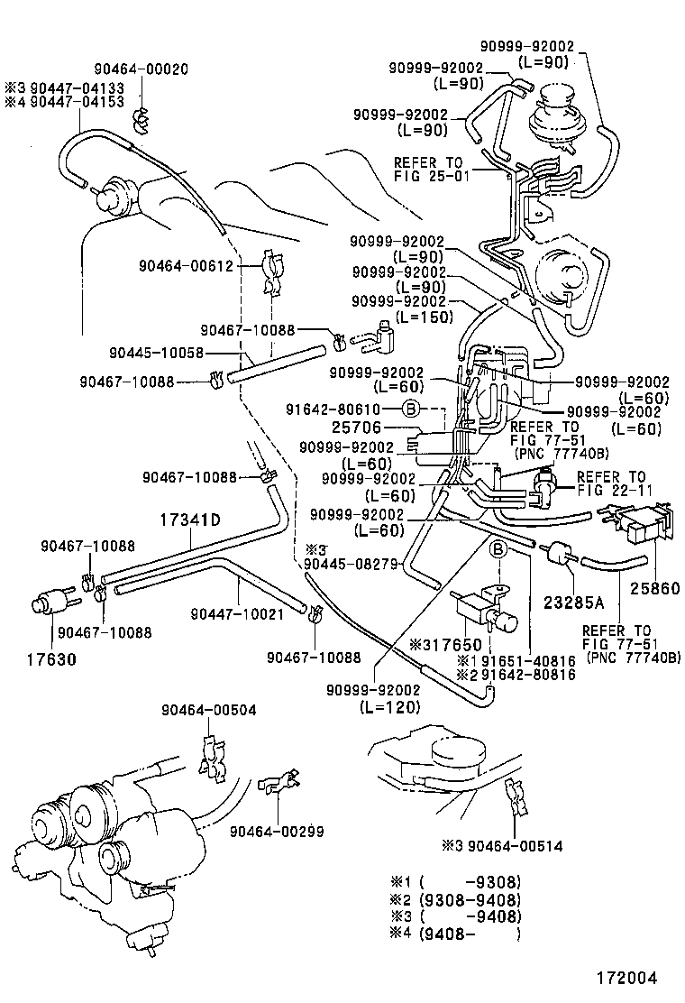 Vacuum Piping 9108 96082tzfe Toyota Estima Tcr12 Japan 2 Engine Diagram Part Code Title Information I