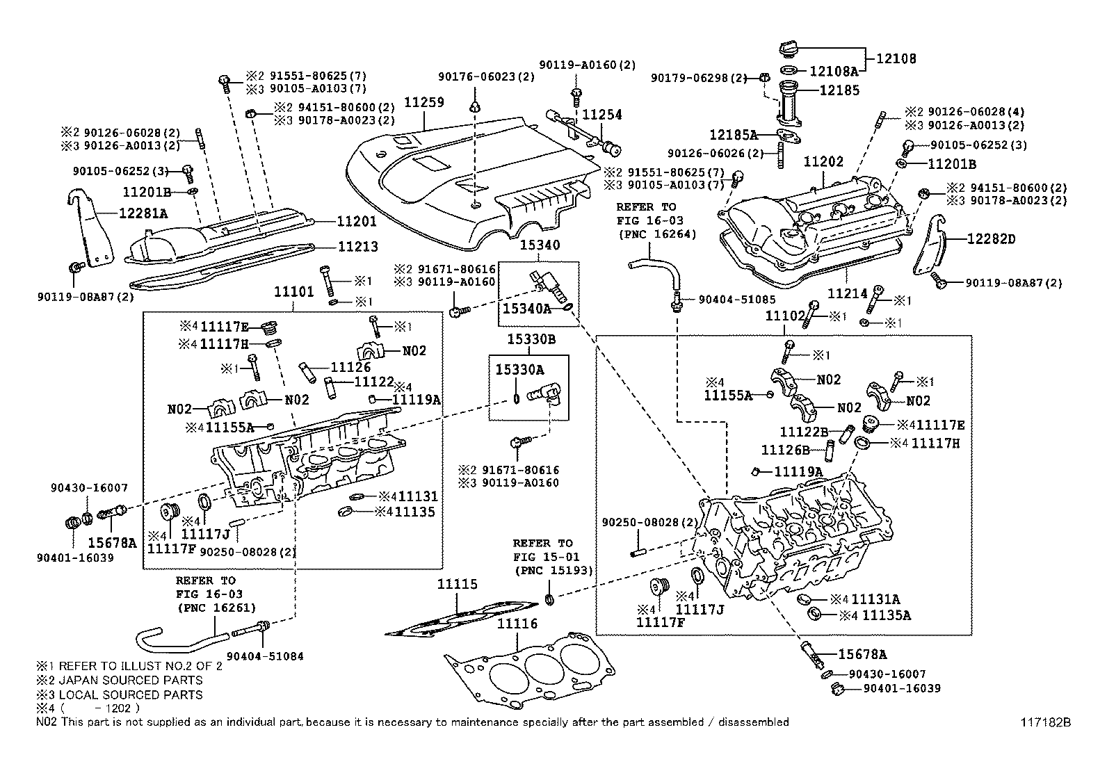 Cylinder Head Illust No 1 Of 20409 1grfe Toyota Tacoma Grn2 1gr Fe Engine Diagram Tacomagrn23trn2 North America