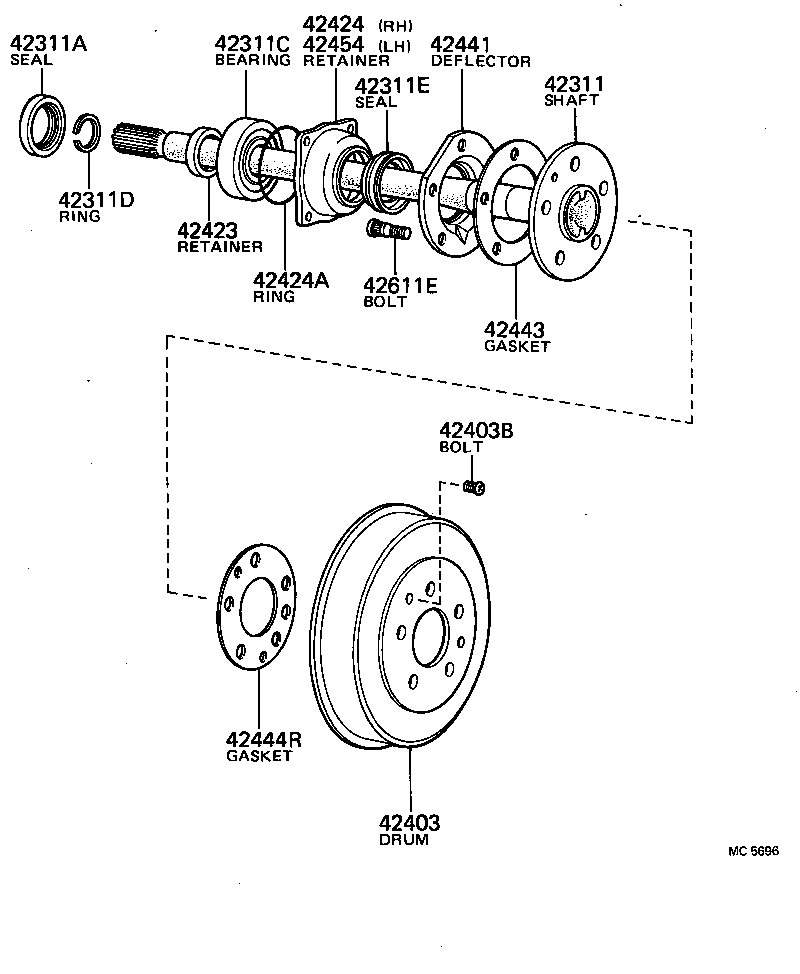 Toyota Rear Axle Diagram